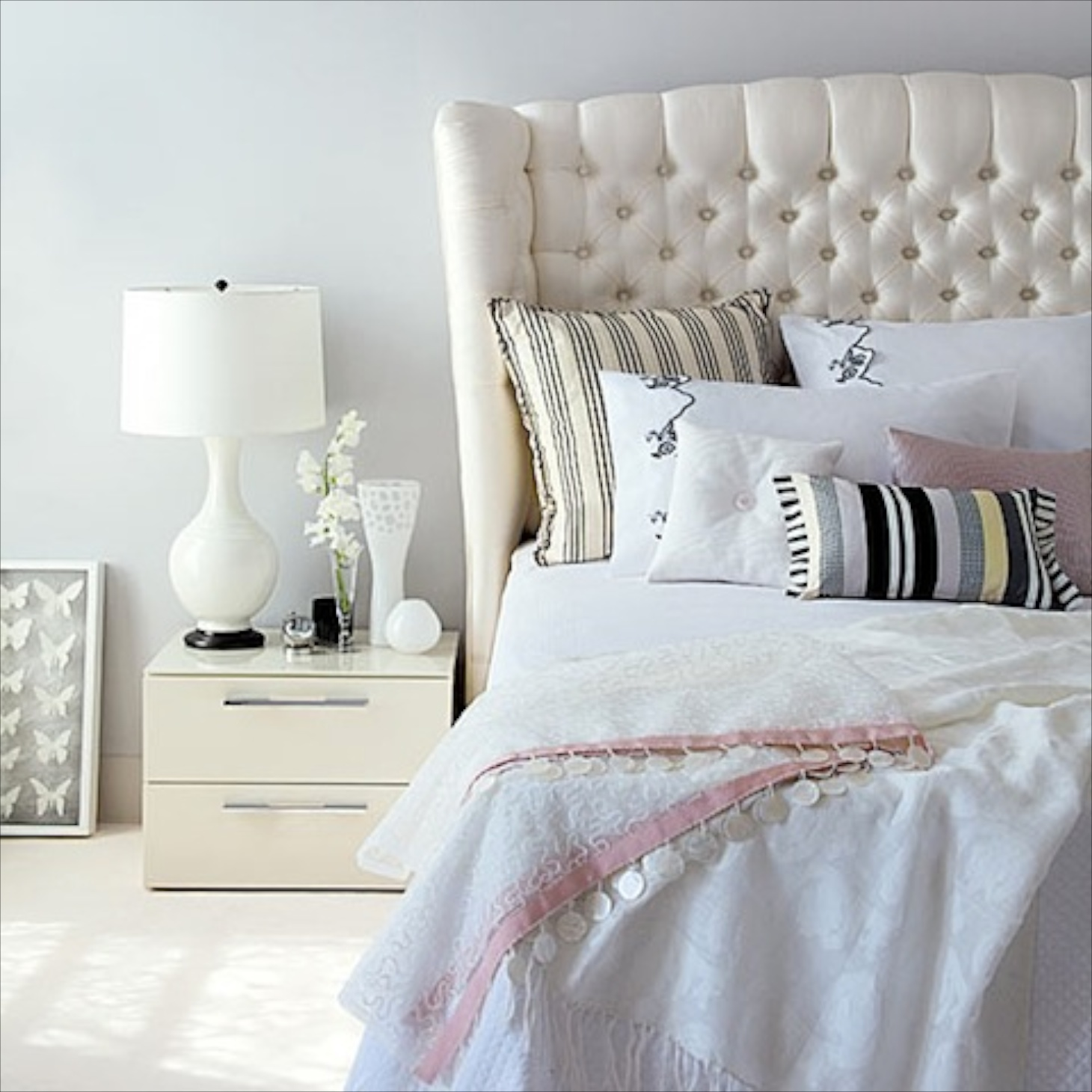 White Decoration Bedroom 18 White Color Decorating Room Ideas Bedroom Luxurious Headboard