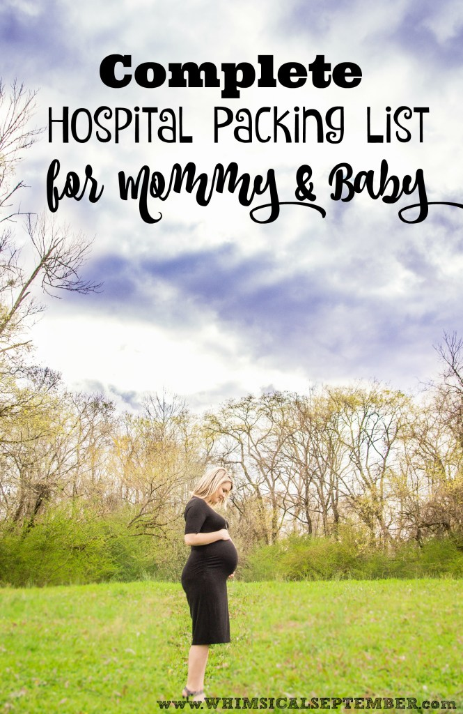 Complete Hospital Packing List for Mommy & Baby