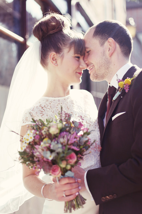 chic colourful wedding