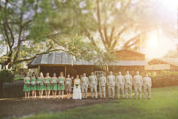 rustic green wedding