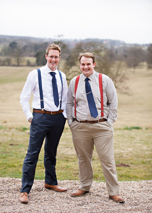 rustic groom braces