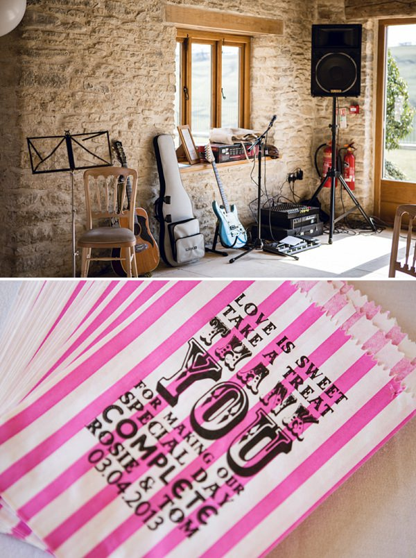 stripe sweet bags paper wedding