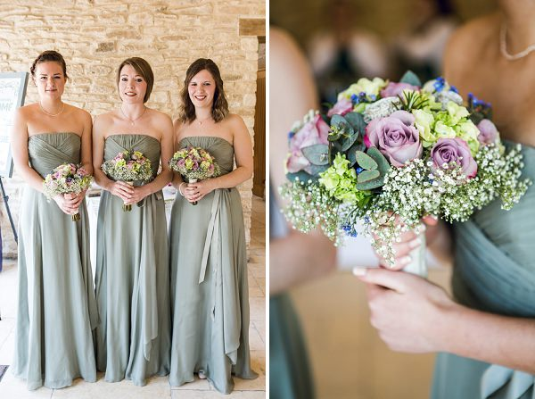 spring bridesmaids green dresses coast