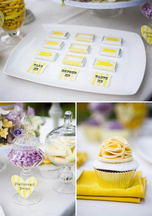 yellow cupcake wedding