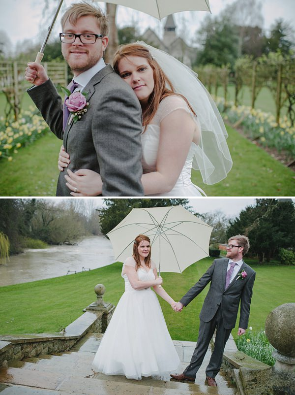 rainy wedding umbrellas