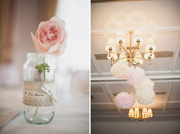 diy pom poms wedding