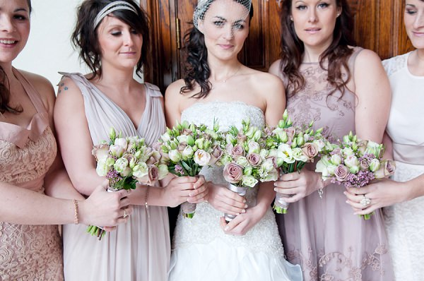 pink mismatched bridesmaids
