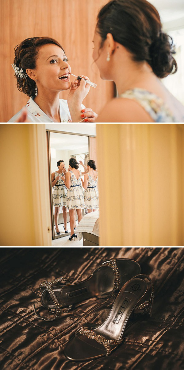 bridal wedding prep