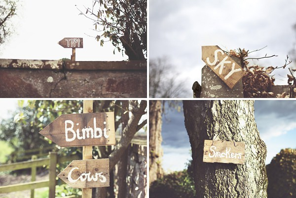 rustic handmade diy wedding signs