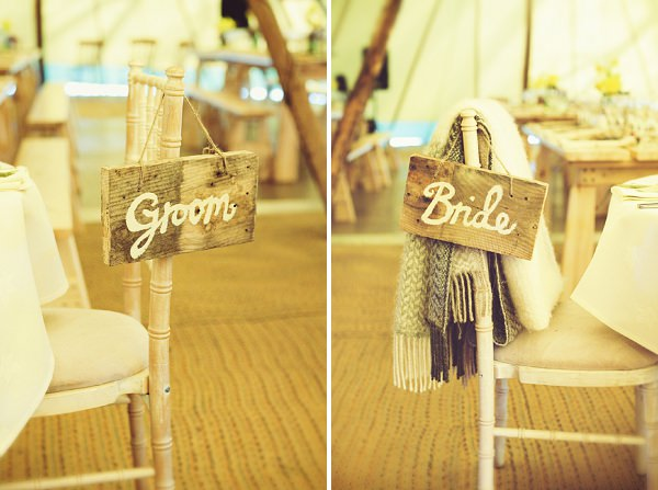 chair decor signs wedding rustic