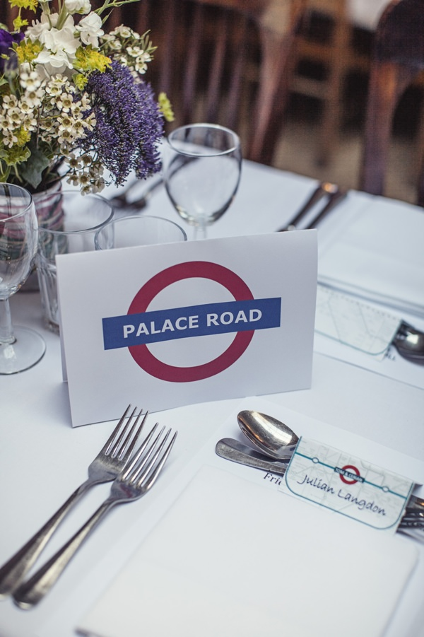 london underground wedding stationery