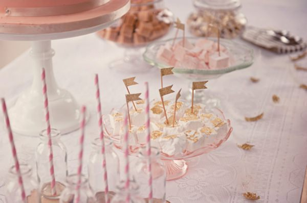 glitter flags stripey straws wedding