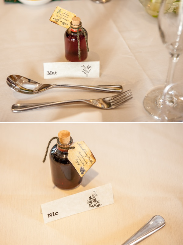 bottles wedding favours