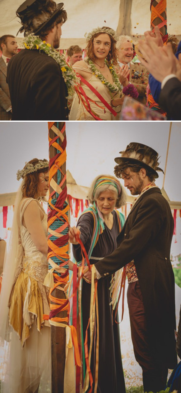 ribbon tying wedding ceremony http://elizaboophotography.com/