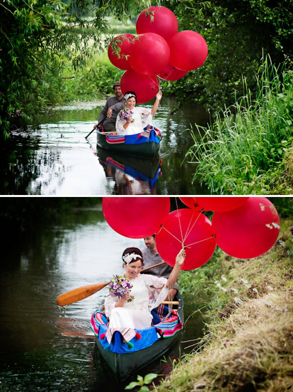 boat canoe wedding transport http://www.photographer-north-wales.com/