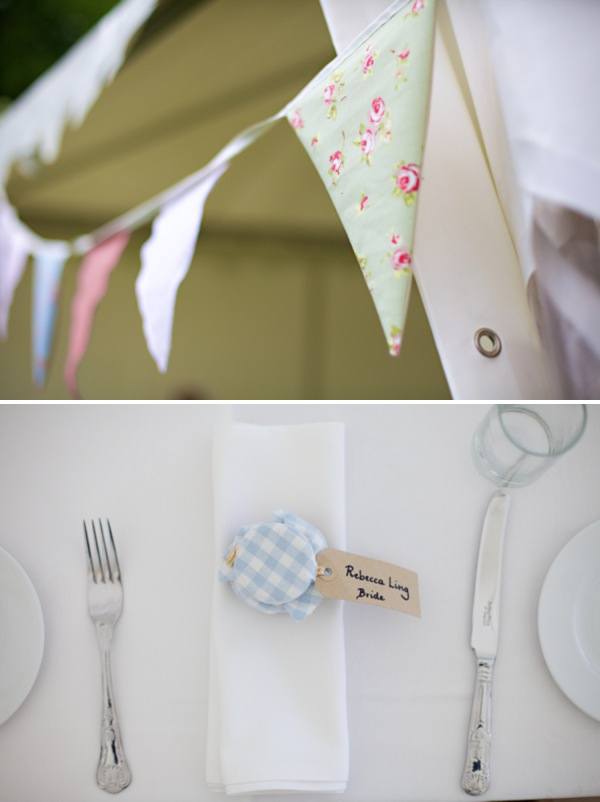 bunting wedding http://www.milkbottlephotography.co.uk/