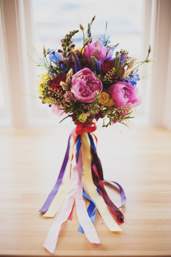 ribbon wedding bouquet http://www.paulfullerkentphotography.com/
