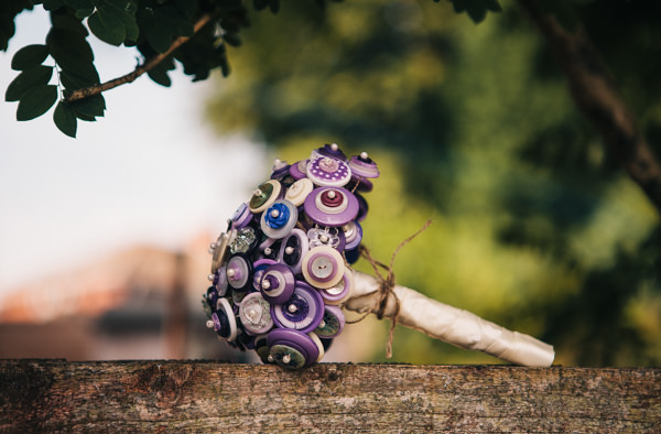 purple button bouquet  http://www.cassandralane.co.uk/