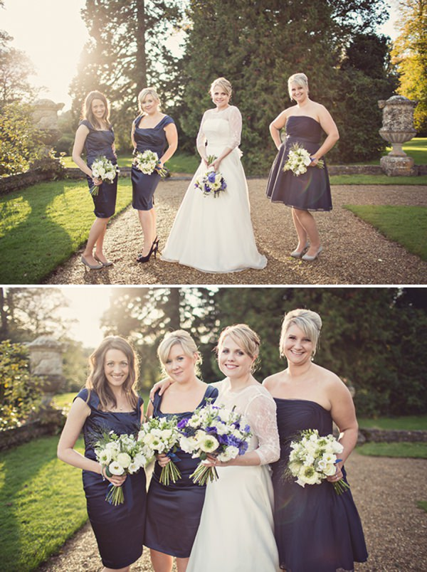 blue bridesmaids wedding http://www.annaclarkephotography.com/