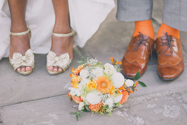 orange coral wedding bouquet http://www.blushandwhimsy.blogspot.co.uk/