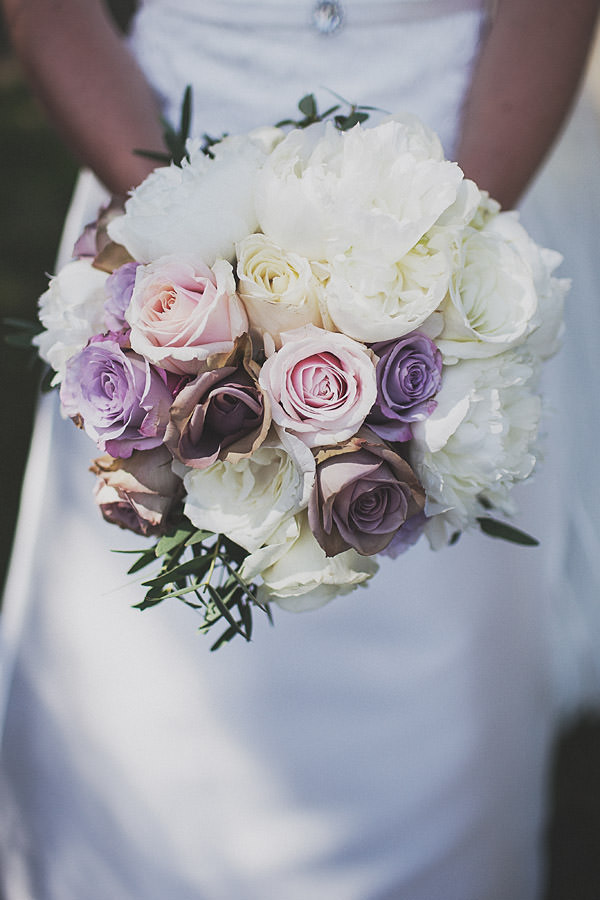 White Pink Rose Peony Bouquet Classic Elegant Pink Wedding http://www.annahardy.co.uk/