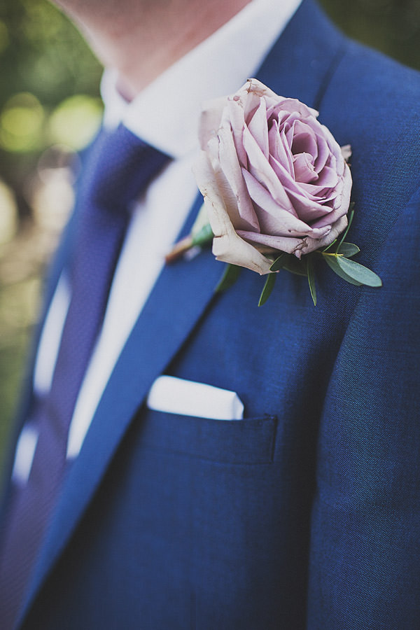 Pink rose buttonhole Classic Elegant Pink Wedding http://www.annahardy.co.uk/