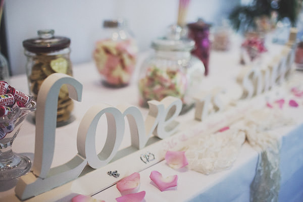 Sweetie table Classic Elegant Pink Wedding http://www.annahardy.co.uk/