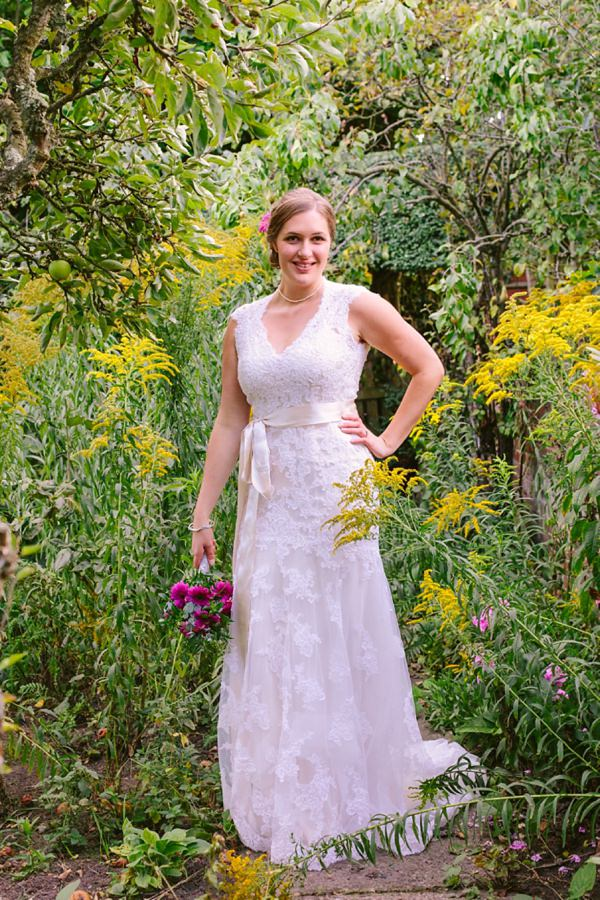 Maggie Sottero Lace Wedding Dress Relaxed Back Garden Wedding http://bethmoseleyphotography.co.uk/