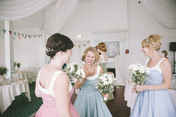 1950s Polka Dot Bridesmaid Dresses Fun Quirky 1950s Wedding http://www.petecranston.com/