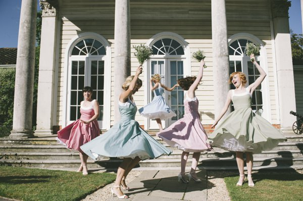 1950s Feel Bridesmaid Dresses Fun Quirky 1950s Wedding http://www.petecranston.com/