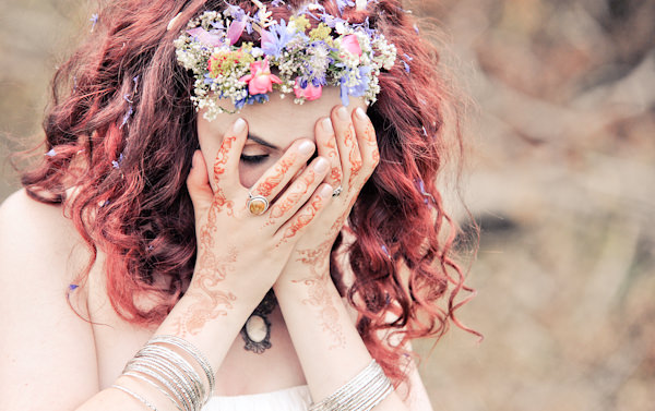 Henna Bride Natural Bohemian Vegan Yurt Wedding http://www.ctimages.co.uk/
