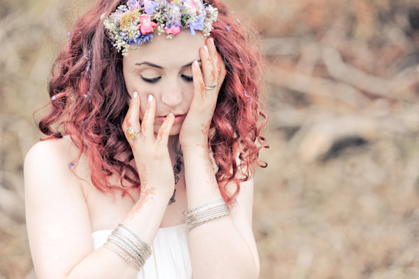 Flowercrown Natural Bohemian Vegan Yurt Wedding http://www.ctimages.co.uk/