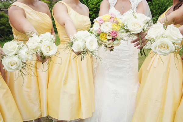 Rose Bouquets Bright Tea Party Yellow Wedding http://www.gemmawilliamsphotography.co.uk/