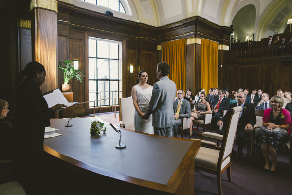 Stoke Newington Town Hall Yellow 1920s DIY London Wedding http://www.corradochiozzi.com/