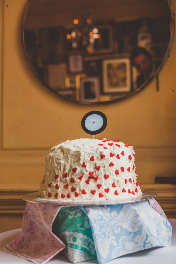 Heart Wedding Cake Quirky London City Wedding www.jordannamarston.com/