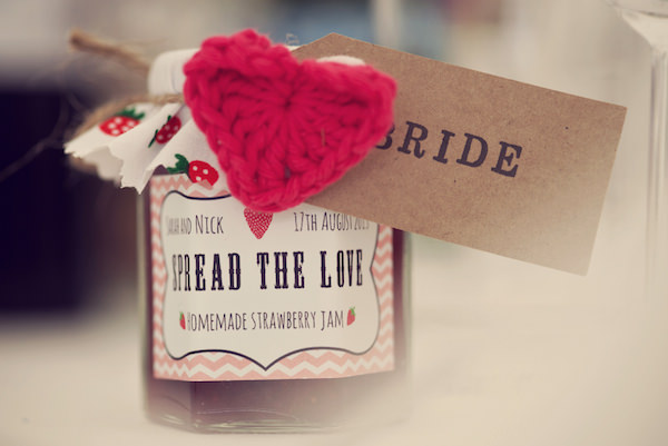 Spread the love Jam Favours Stylish Fun Humanist Wedding http://www.ruby-roux.com/