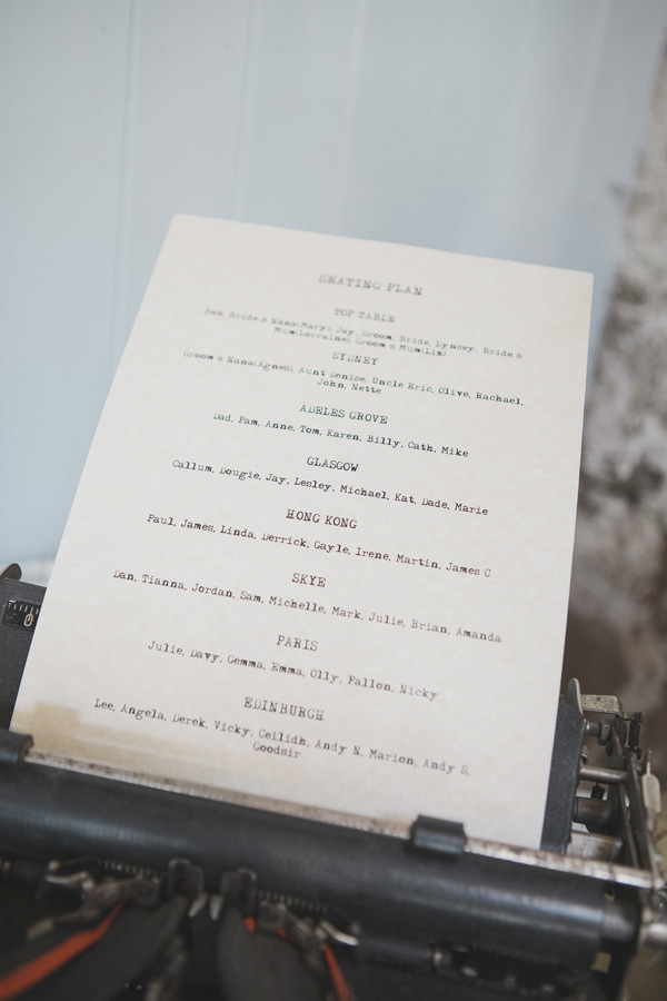 Indie Farm Wedding Typewriter http://www.mirrorboxphotography.com/