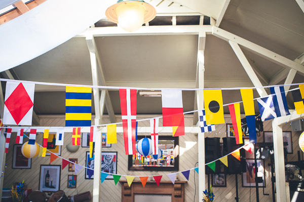 Flag Bunting Nautical Colourful Pirate Wedding http://www.mariannechua.com/