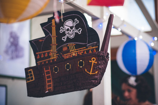 Pinata Nautical Colourful Pirate Wedding http://www.mariannechua.com/