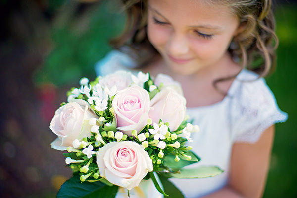 Pretty Pink Summer Marquee Wedding Flowergirl Bouquet http://www.photographybyvicki.co.uk/blog/