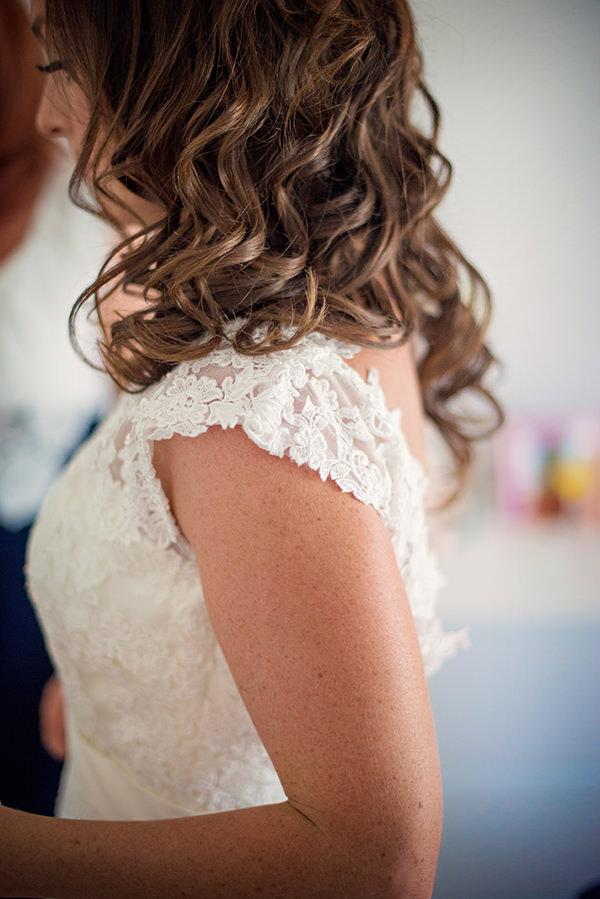 Pretty Pink Summer Marquee Wedding Curled Tousled Hair Bride http://www.photographybyvicki.co.uk/blog/