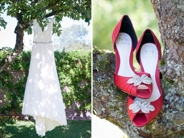 Chic & Relaxed Country Rustic Wedding Paloma Blanca Dress http://www.sarareeve.com/
