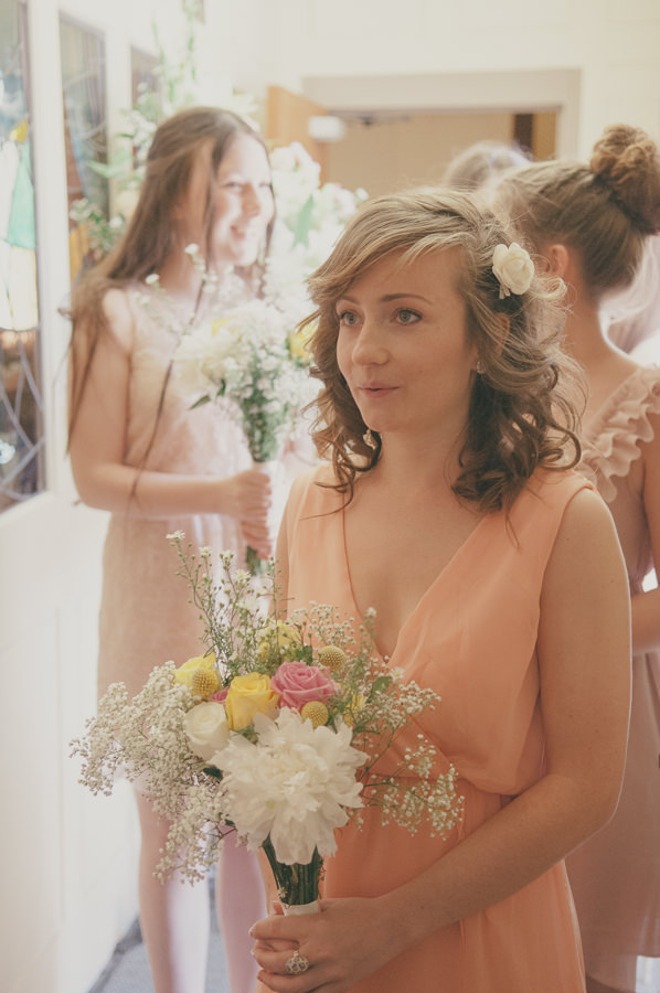 Sweet & Pretty Homemade Wedding Mismatched Bridesmaids http://www.tohave-toholdphotography.co.uk/