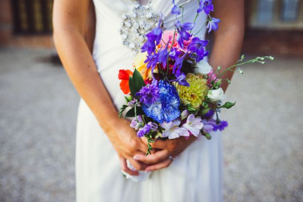 Rainbow Wedding Bouquet http://www.babbphoto.com/