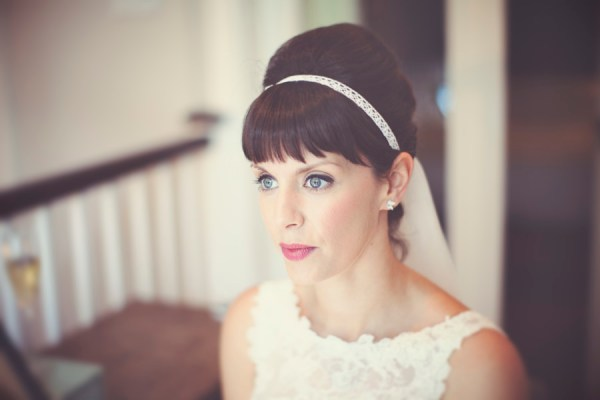 DIY Village Hall Wedding Beehive Fringe Hair Bride http://www.onloveandphotography.com/