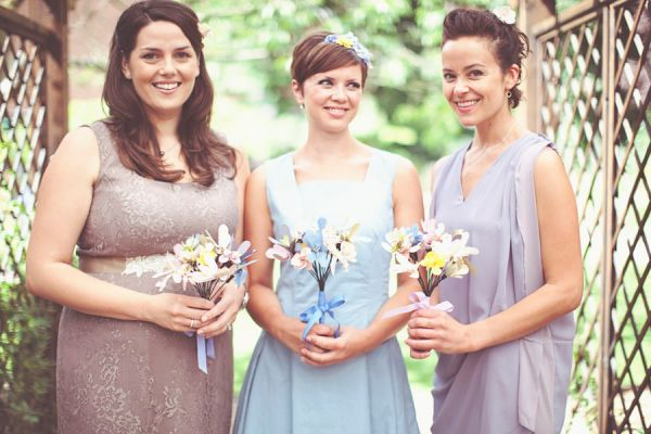 DIY Village Hall Wedding Mismatched Bridesmaids http://www.onloveandphotography.com/