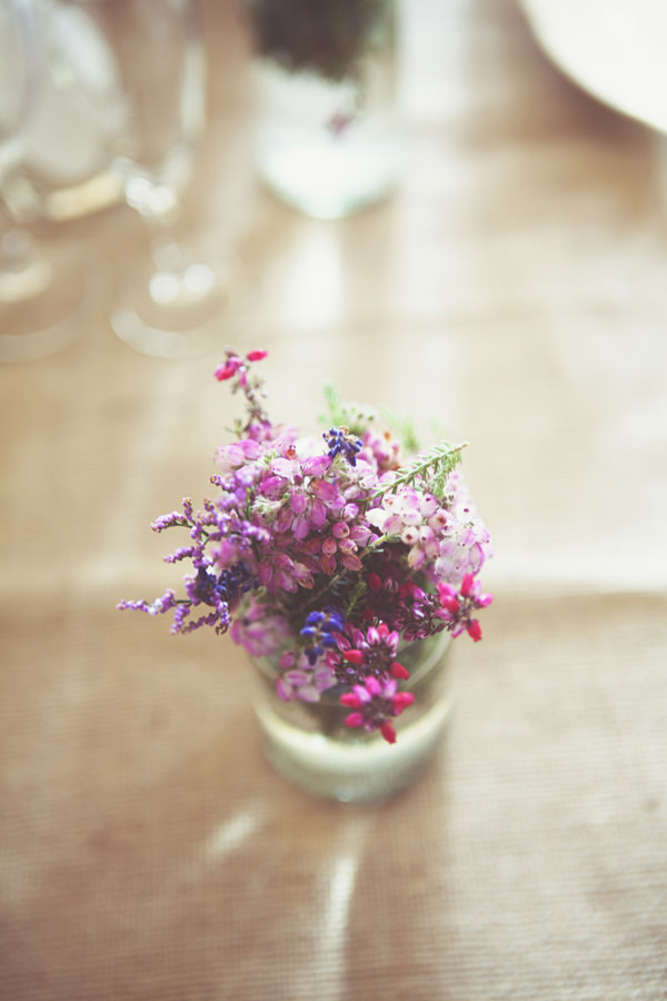 DIY Village Hall Wedding Flowers Jars http://www.onloveandphotography.com/