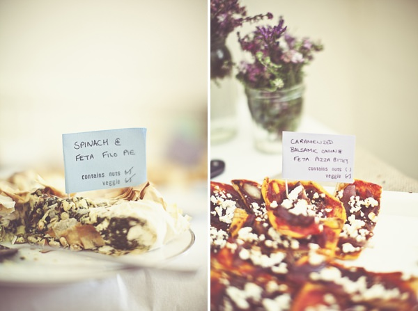 DIY Village Hall Wedding Food Buffet http://www.onloveandphotography.com/