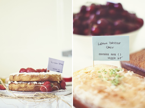 DIY Village Hall Wedding Cake Buffet http://www.onloveandphotography.com/