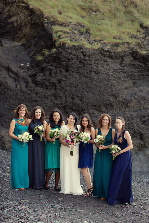 Magical Turquoise Beach Wedding Blue Bridesmaid Dresses http://www.mariannetaylorphotography.co.uk/